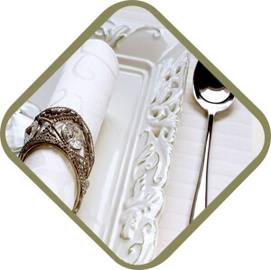 domestic staff cutlery and napkins